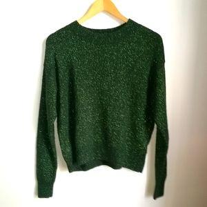3/30$ H&M Green & Shiny Oversized Wool Sweater